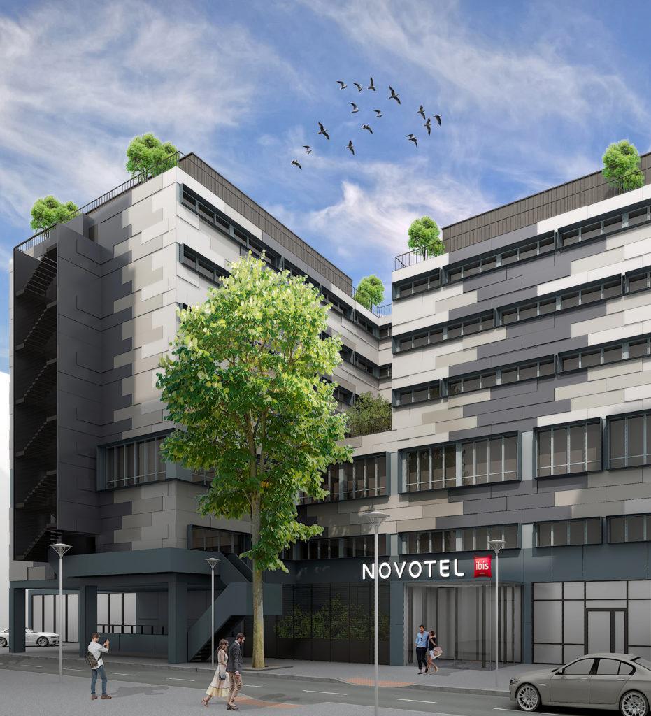 Projet de rénovation des façades de l'hôtel Novotel de Paris Nanterre