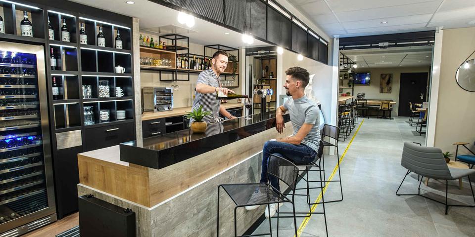 projet d'architecture d'intérieur commerciale pour l'hôtel Ibis de Tours Giraudeau