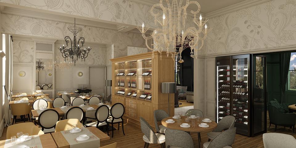 Rénovation et architecture commerciale du restaurant le Petit Faurie de Soutard